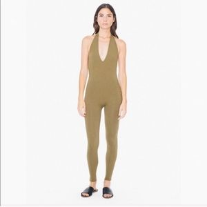 American Apparel catsuit in olive